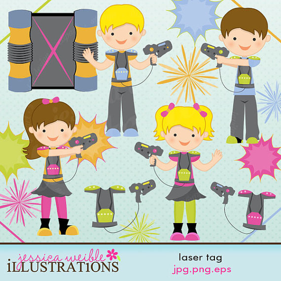 Laser Tag Cute Digital Clipart For Card Design Scrapbooking And Web