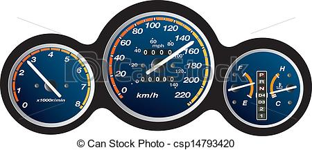 Of Car Dashboard Gauge Illustration Csp14793420   Search Clipart