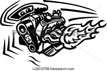Of  Motor Cartoon Engine Flame Toon U12013799   Search Clipart