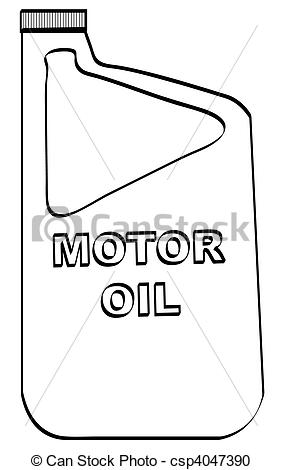 Of Outline Of Plastic Motor Oil Bottle Csp4047390   Search Clipart