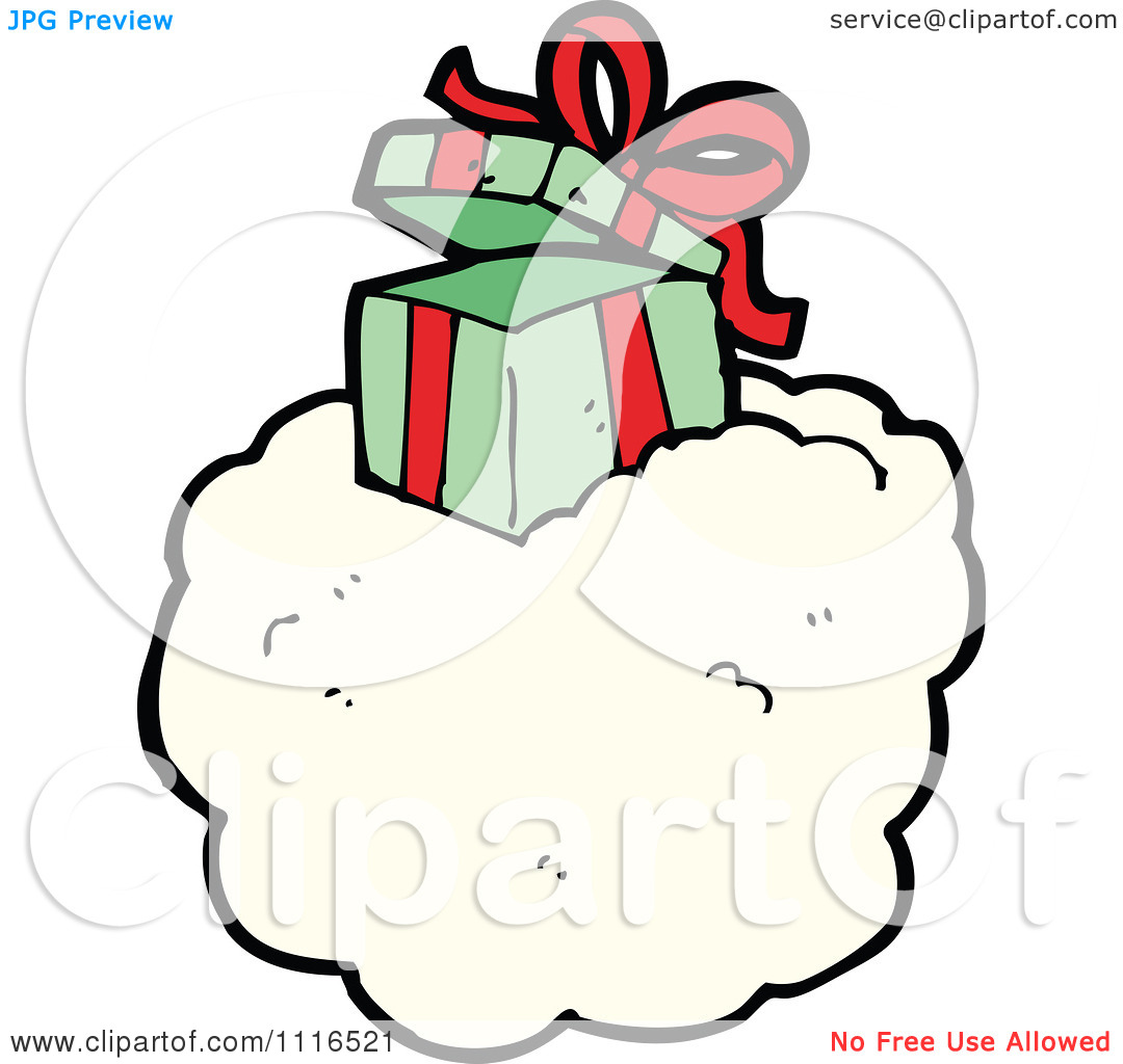 Open Gift Clipart Clipart Open Christmas Present Gift Box On A Cloud