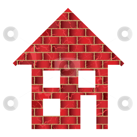 Red Brick House Stock Vector Clipart Red Brick House Or Home With