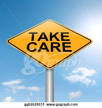 Roadsign With A Take Care Concept  Sky Background  Clipart Gg62629031