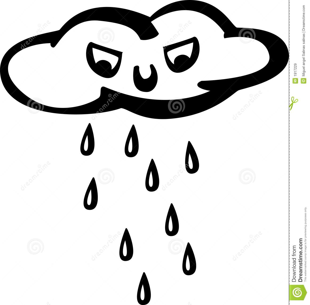Sad Cloud Clipart - Clipart Kid