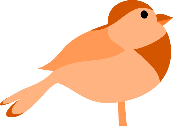Simple Cartoon Bird Clip Art At Clker Com   Vector Clip Art Online