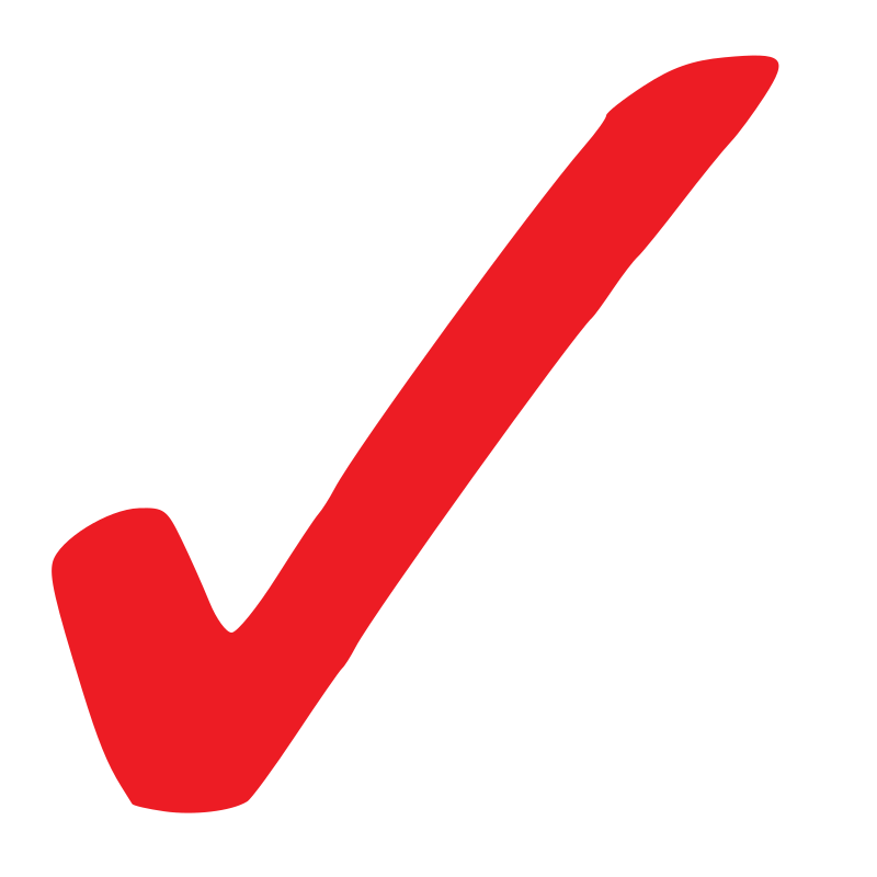 Simple Red Checkmark By Thatsmyboy   Simple Red Checkmark
