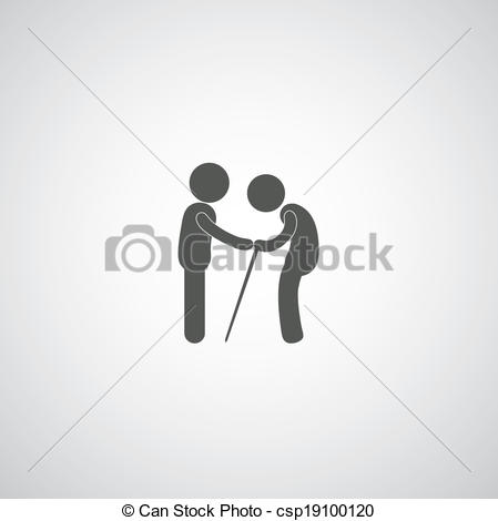 Take Care Elder Symbol On Gray Background Csp19100120   Search Clipart