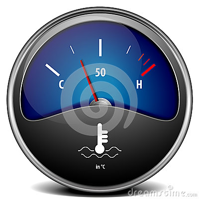 Temperature Gauge Royalty Free Stock Image   Image  33008876