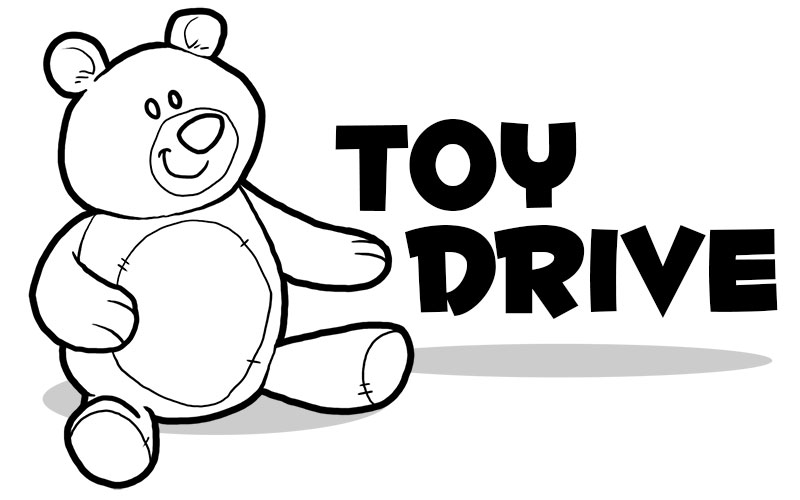 Toy Drive Clip Art : Toy drive black and white clipart suggest