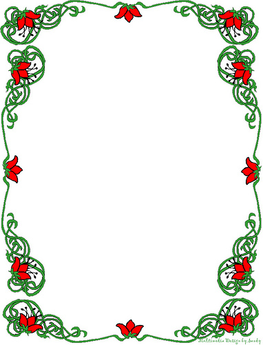 Christmas Card Borders Clipart - Clipart Kid