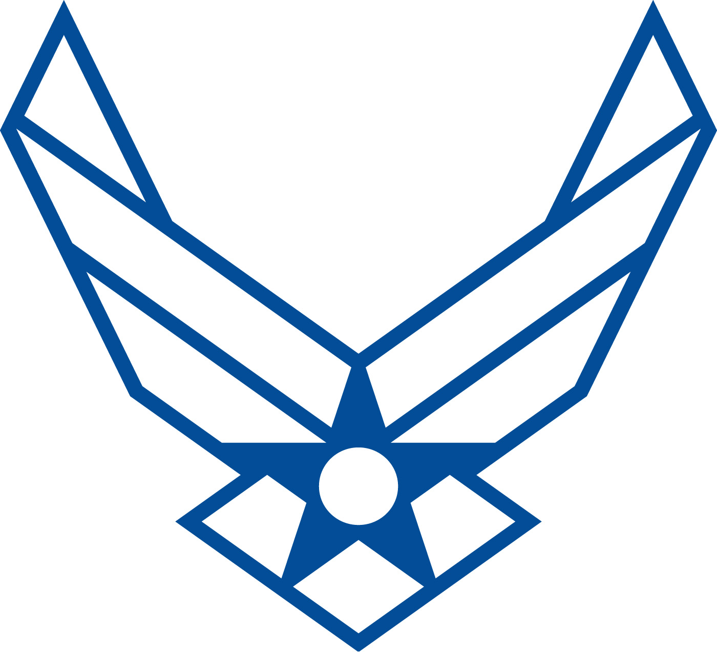 Clip Art Of Air Force Logo Clipart - Clipart Kid