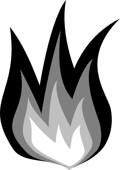 Black And White Fire Clipart Fire Fire Fire Hi Png