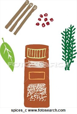 Clipart Of Spices Spices C   Search Clip Art Illustration Murals