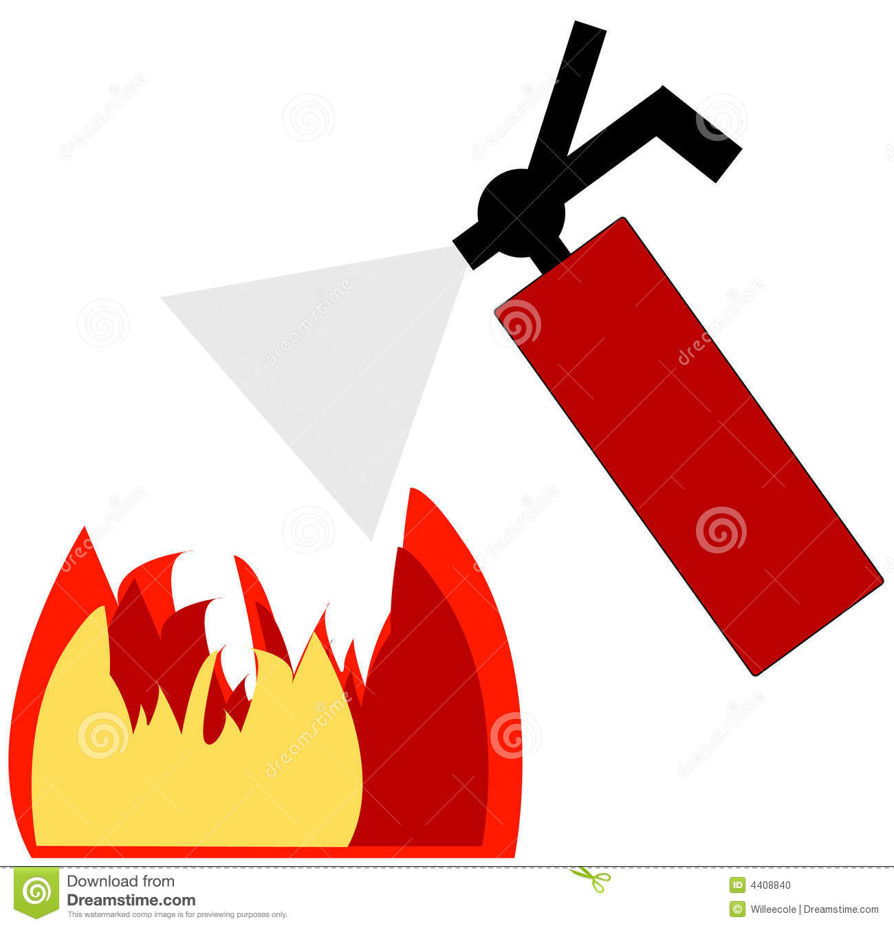 Fire Extinguisher Putting Out Fire   Clipart Panda   Free Clipart