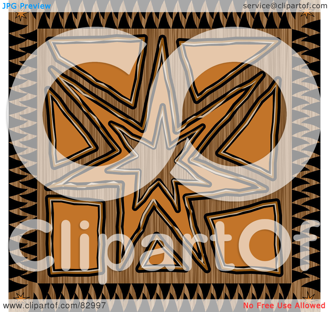 Free  Rf  Clipart Illustration Of A Brown Black And Orange Inca