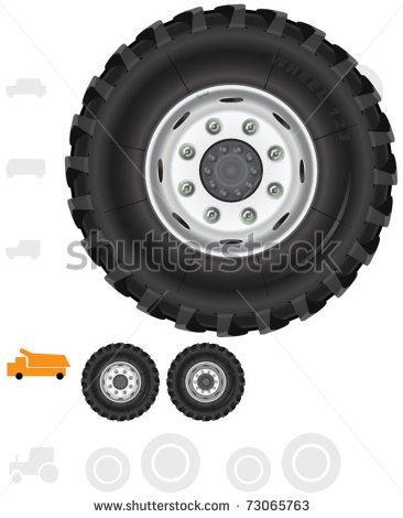 Heavy Truck Wheels  7  The Series Of The Detailed Wheels Of The