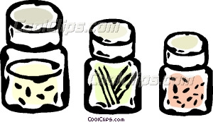 Jars Of Spice Vector Clip Art