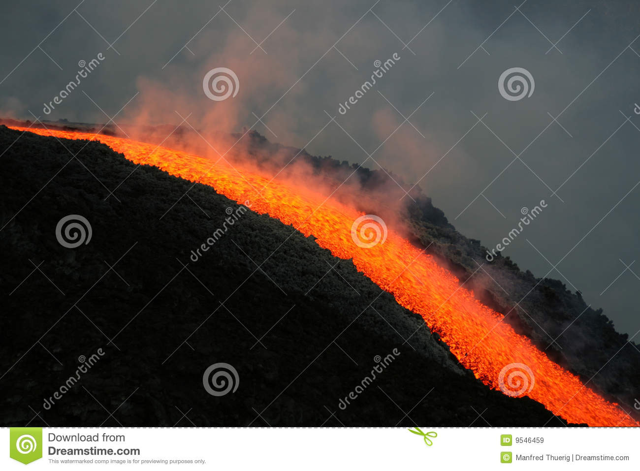 Lava Flow On Etna Volcano Royalty Free Stock Images   Image  9546459