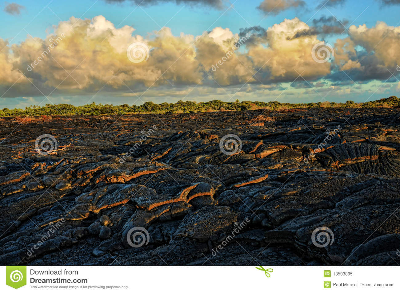 Lava Flow Royalty Free Stock Photo   Image  13503895