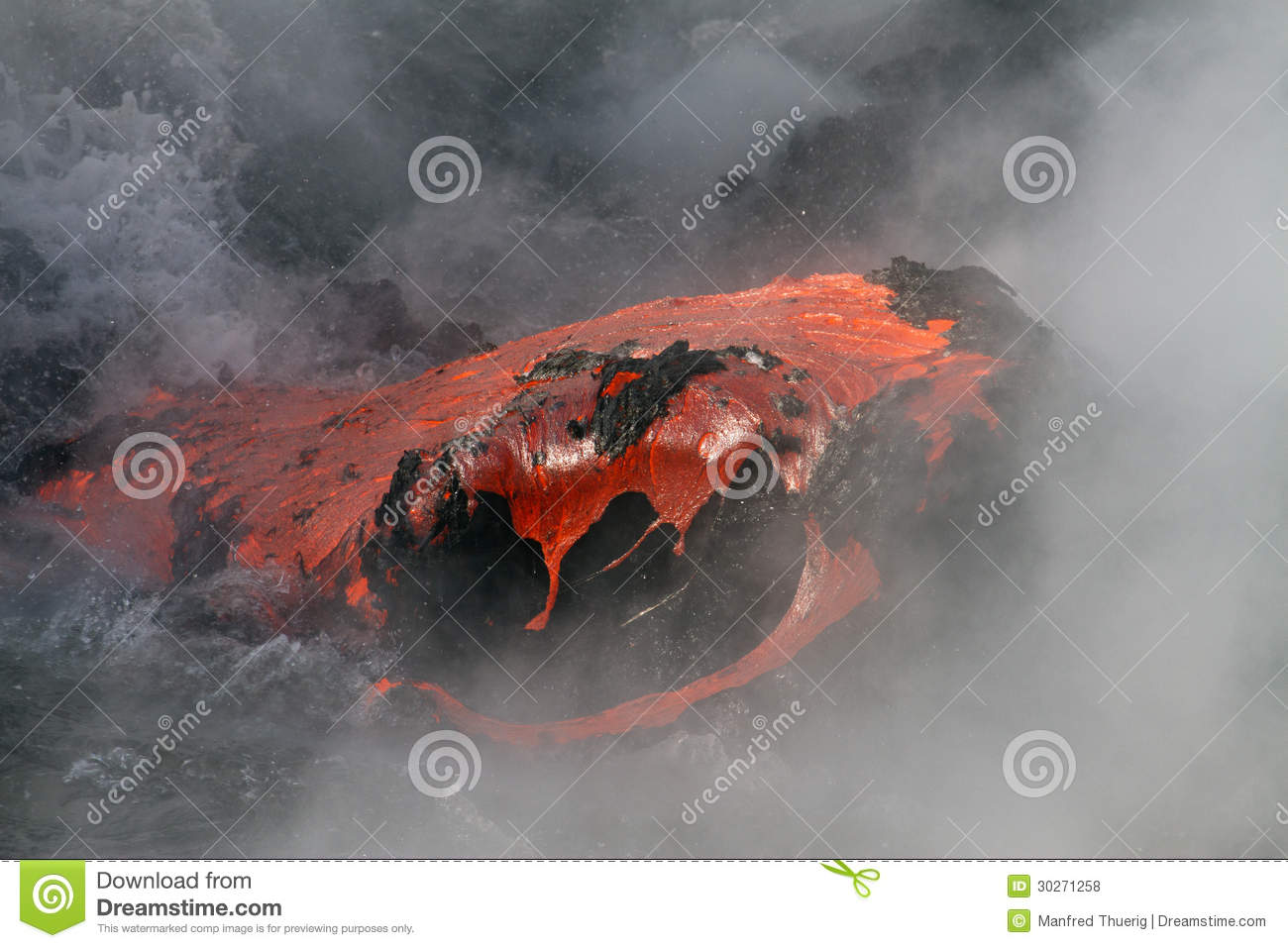 Lava Flow Royalty Free Stock Photos   Image  30271258