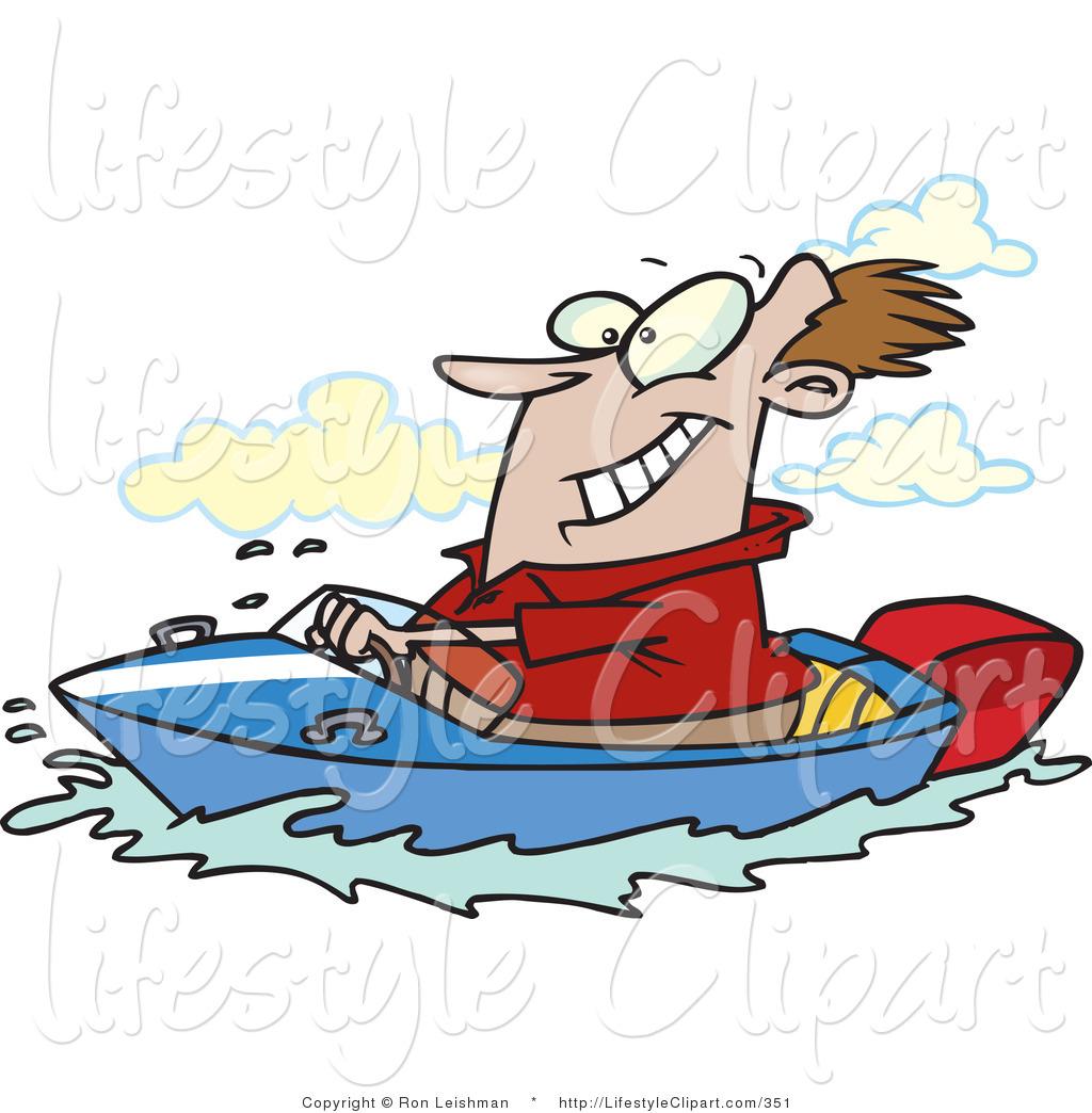 девушка в лодке клипарт