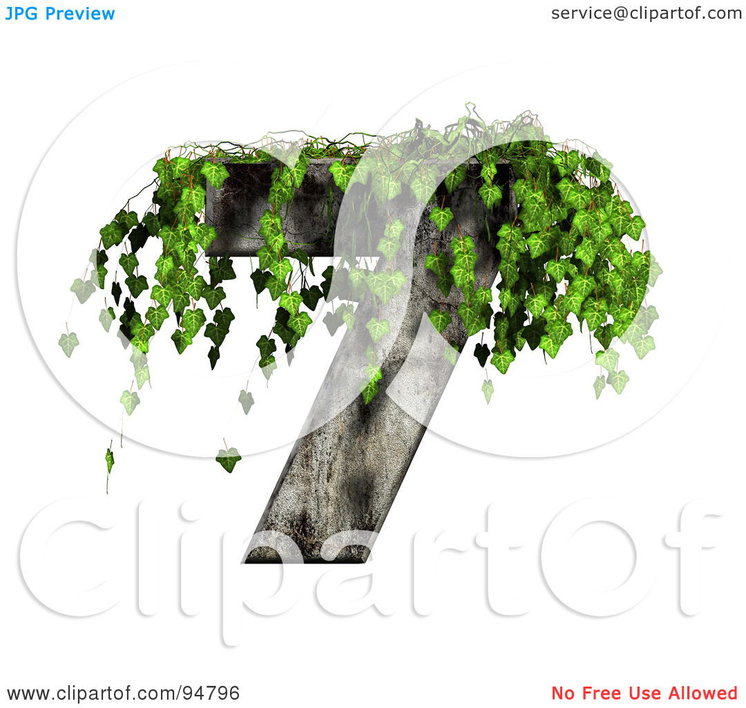 Royalty Free  Rf  Clipart Illustration Of Green Ivy Overgrowing On A