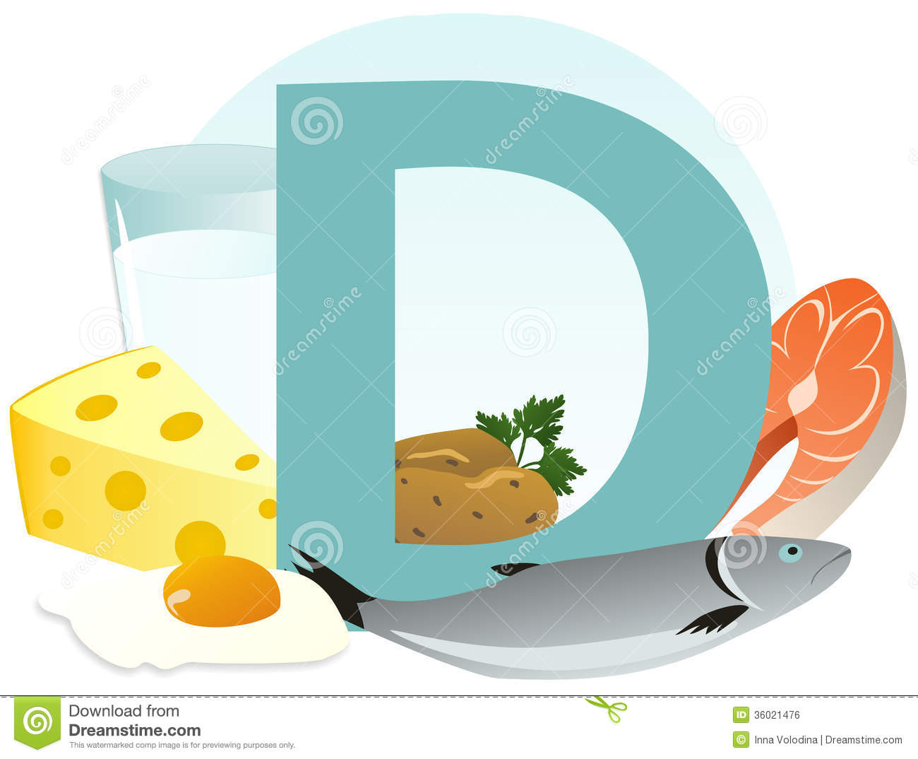 Royalty Free Stock Image  Products Containing Vitamin D