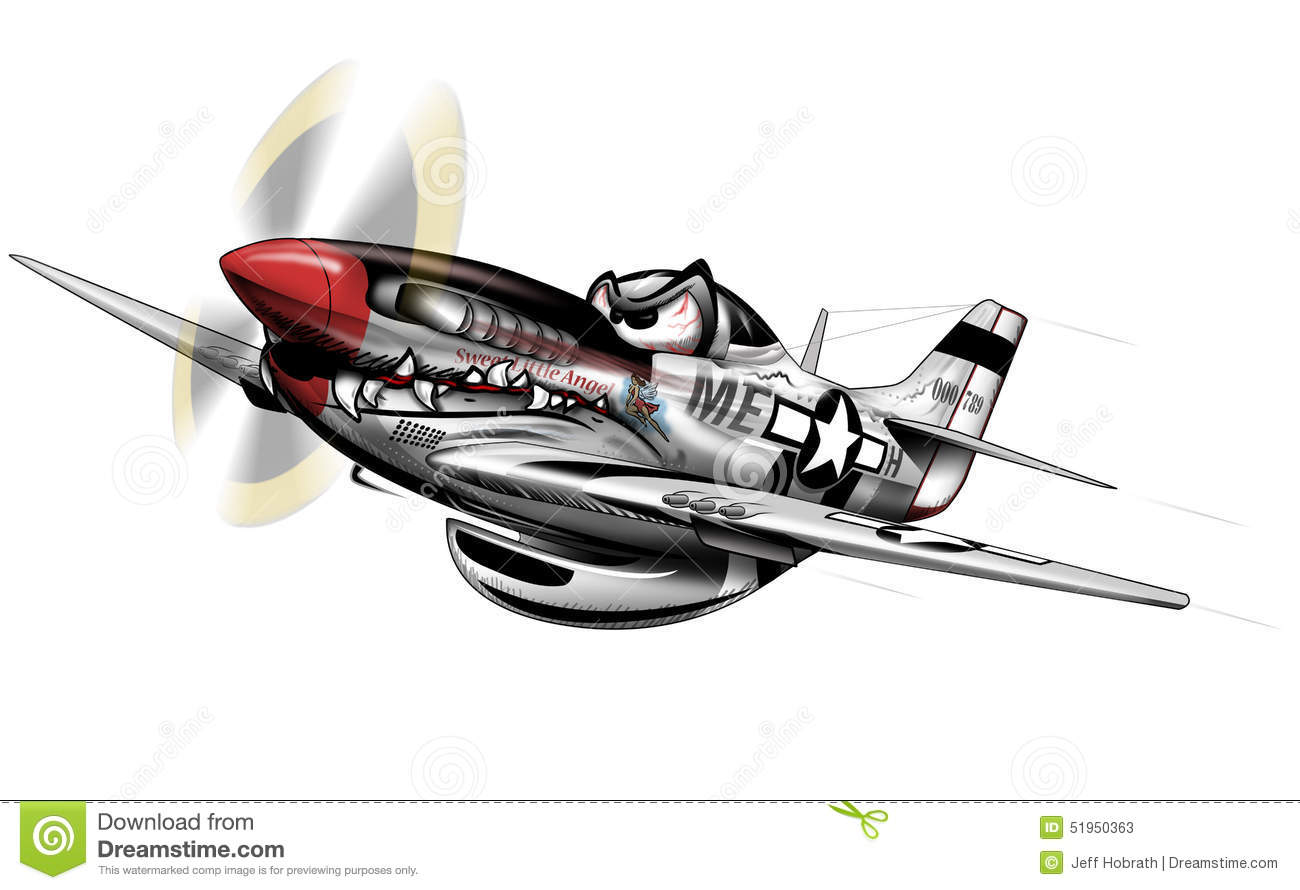 The Mighty P 51 Mustang Wwii Aircraft With Very Cool Paint Scheme