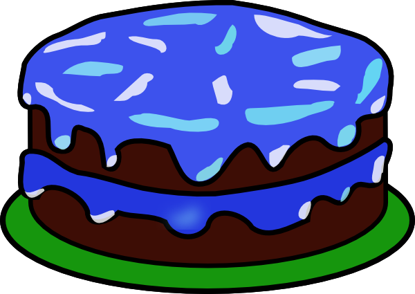 Clip Art Of Birthday Cake With Candles : Blue Cake Clipart - Clipart Suggest
