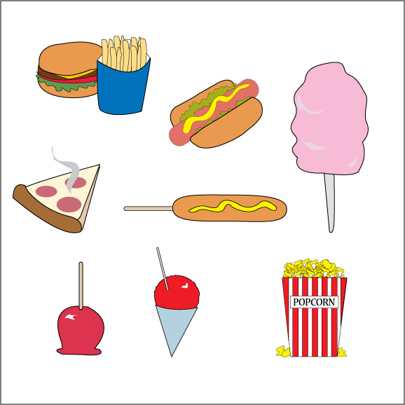 Carnival Food Vector Clip Art   Other Files   Clip Art