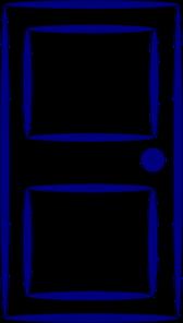 Clip Art Clipart Door push door clipart kid blue clip art at clker com vector online royalty free