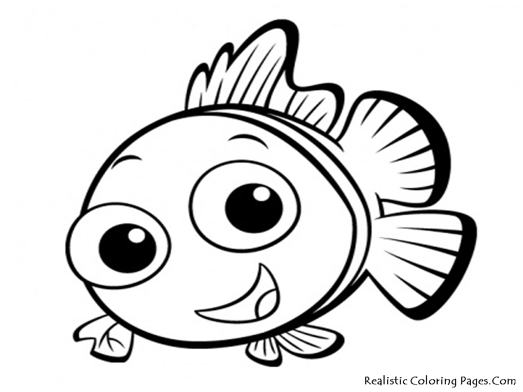 Baby Fish Coloring Pages #4