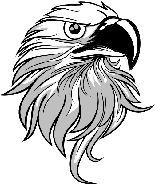 B W Eagle Clipart - Clipart Kid