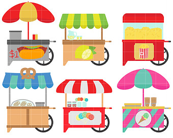 Fair Food Clipart Food Carts Digital Clip Art