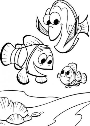 Finding Nemo And Friends Coloring Pages Ocellaris Clownfish Nemo And