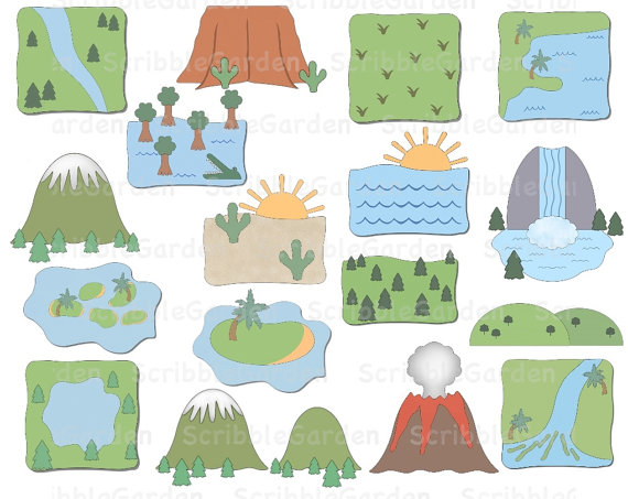 Landforms Clipart - Clipart Kid