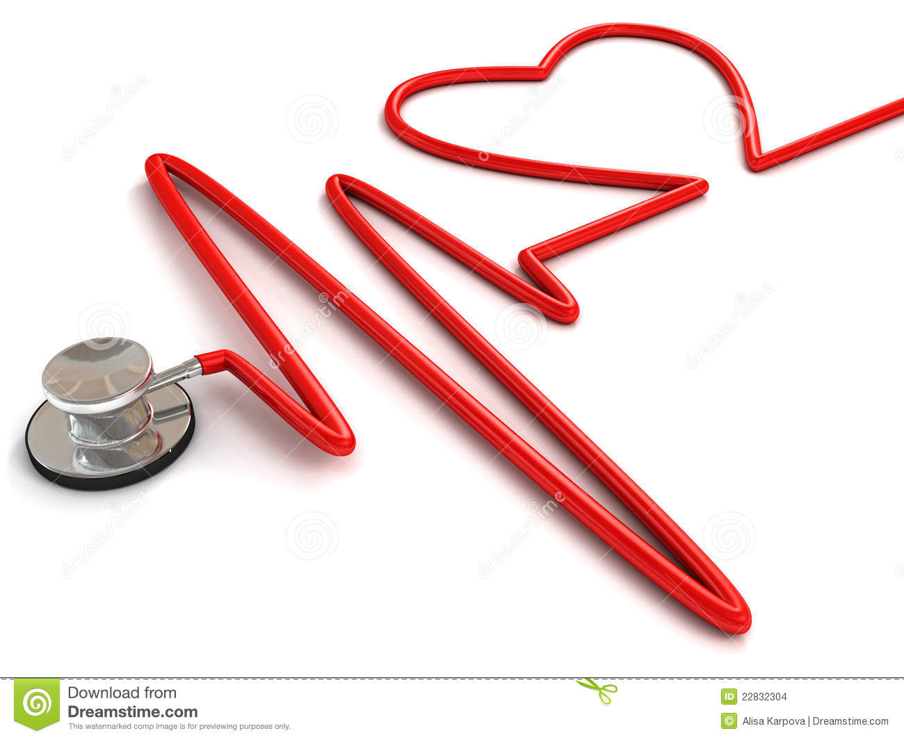 Stock Images  Stethoscope And A Silhouette Of The Heart And Ecg