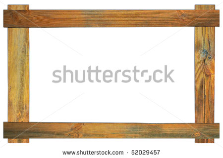 The Brown Wood Frame On An Isolated White Background Stock Photo