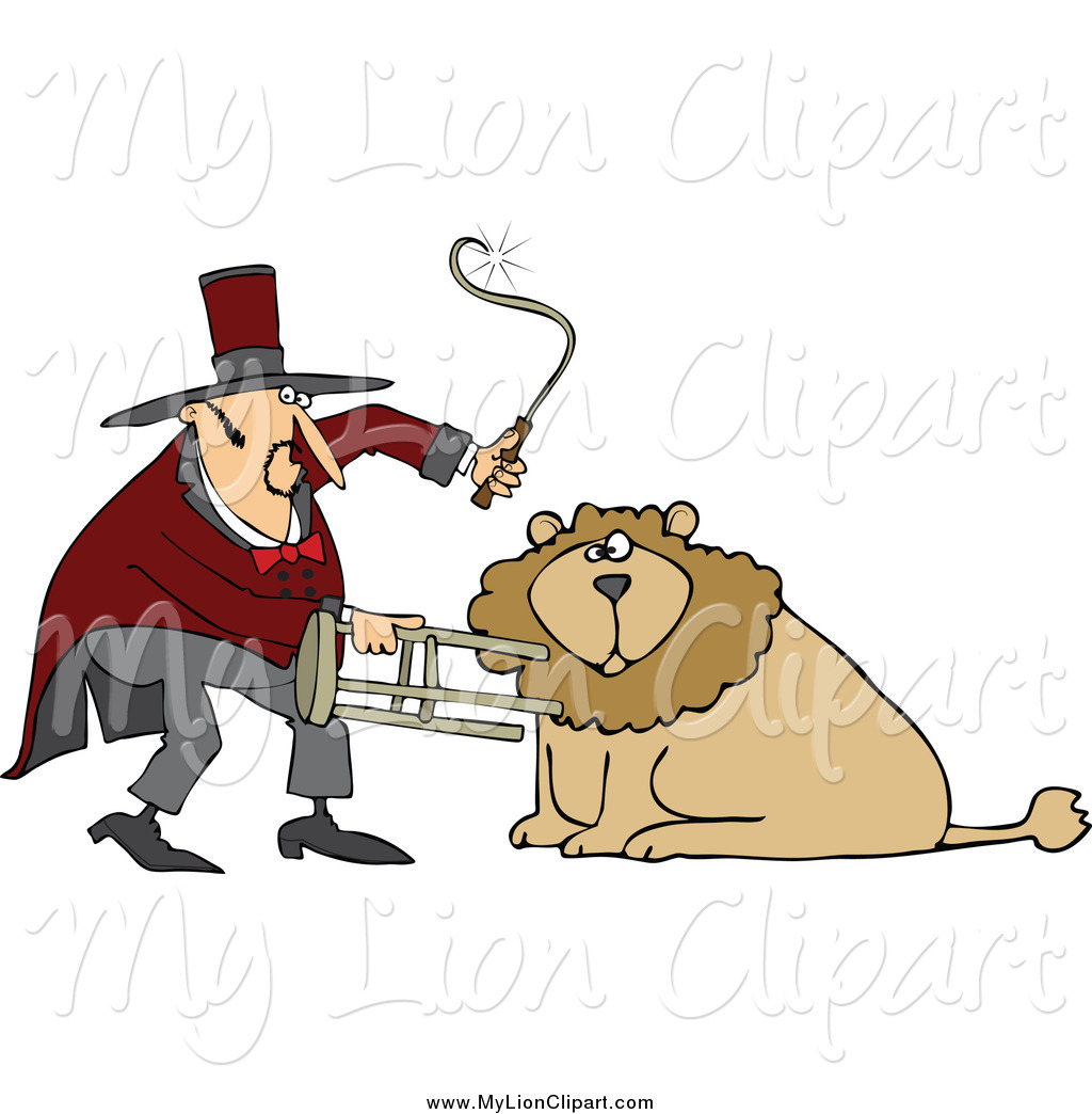 Whip Clipart Clipart Of A Circus Lion Tamer With A Stool And Whip By