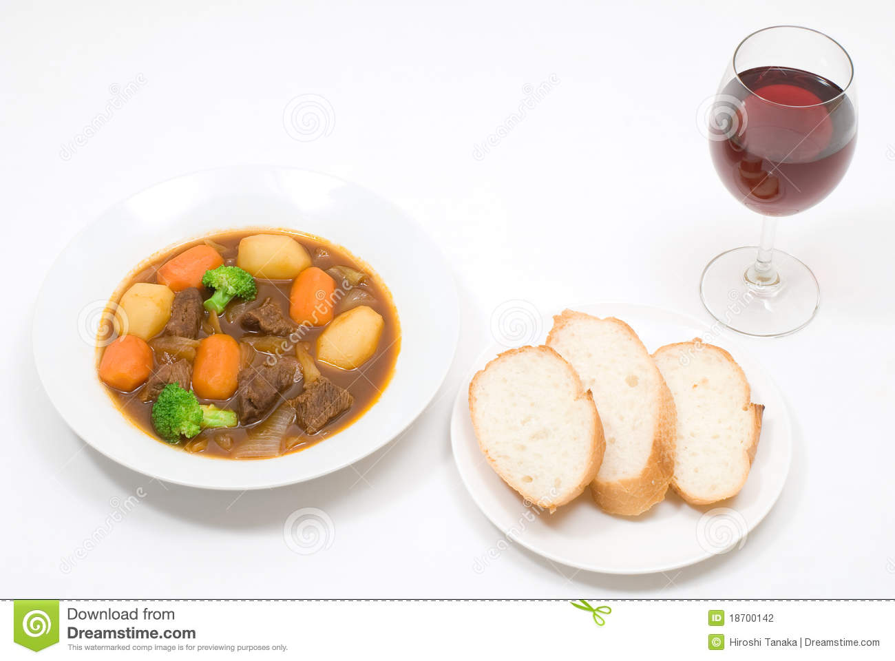 Beef Stew Of Slowly Simmered Beef And Vegetables