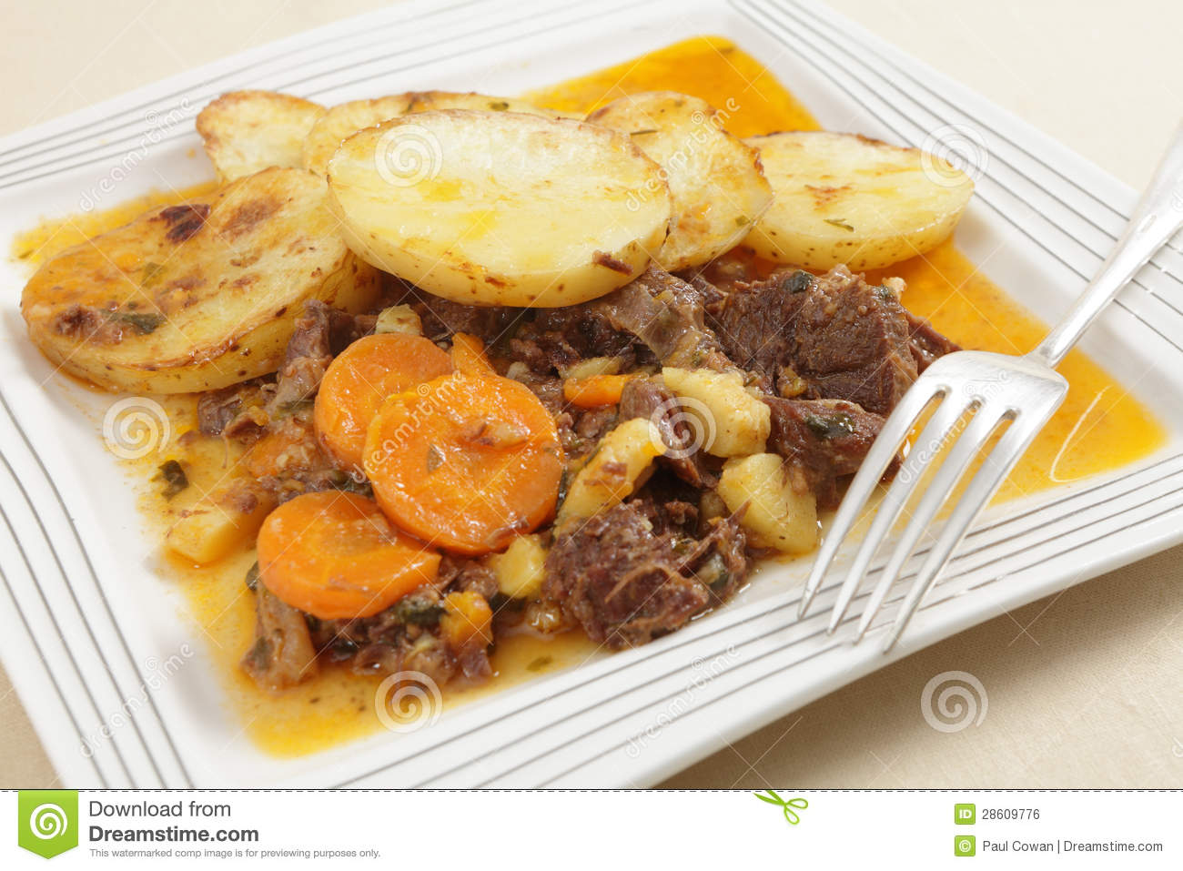 Beef Stew With A Fork Royalty Free Stock Image   Image  28609776