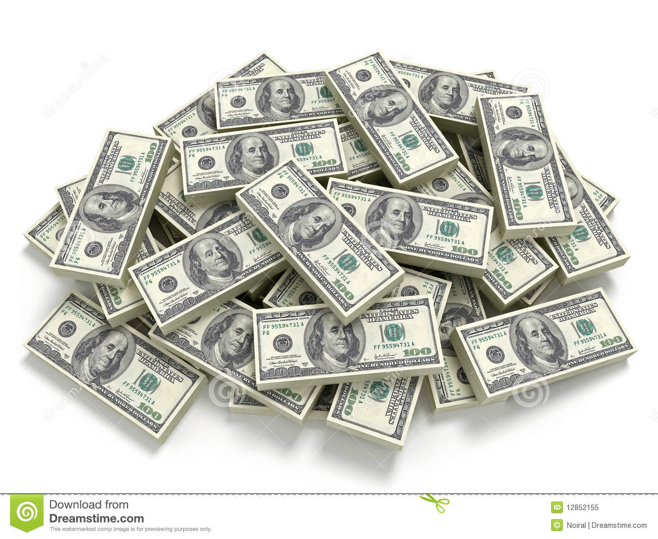 Big Pile Of The Money Royalty Free Stock Photo   Image  12852155