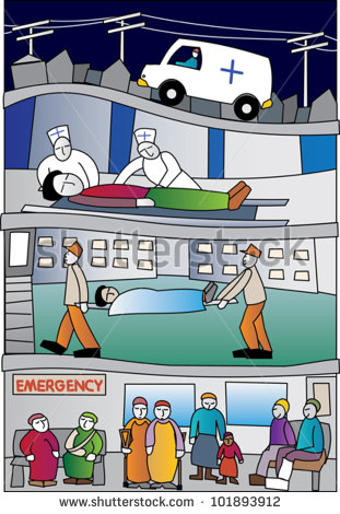 Healthcare Scene Featuring Ambulance Paramedics A Stretcher And