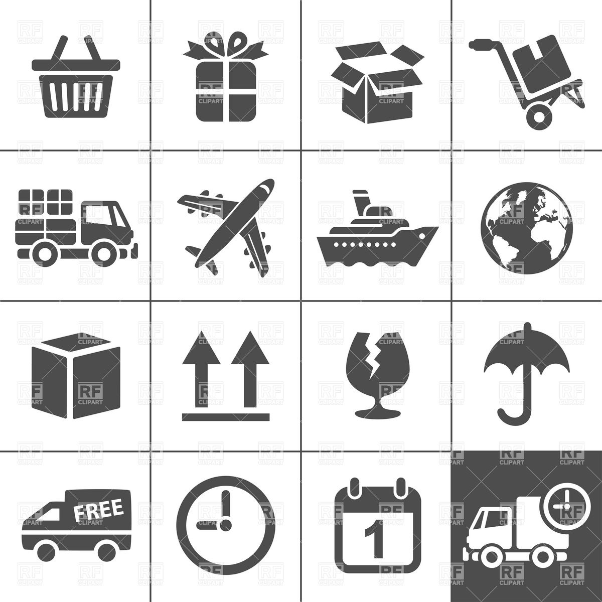 Logistics Transportation And Delivery Icons 12604 Icons And Emblems