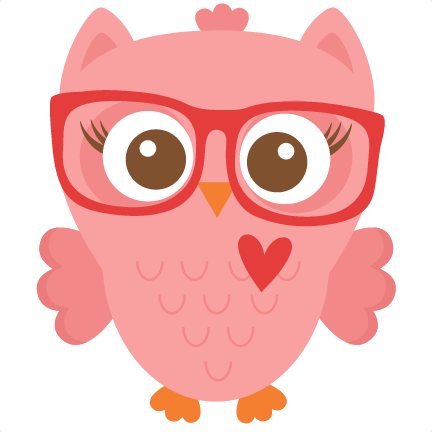 Nerdy Girl Owl Scrapbook Cuts Svg Cutting Files Doodle Cut Files For