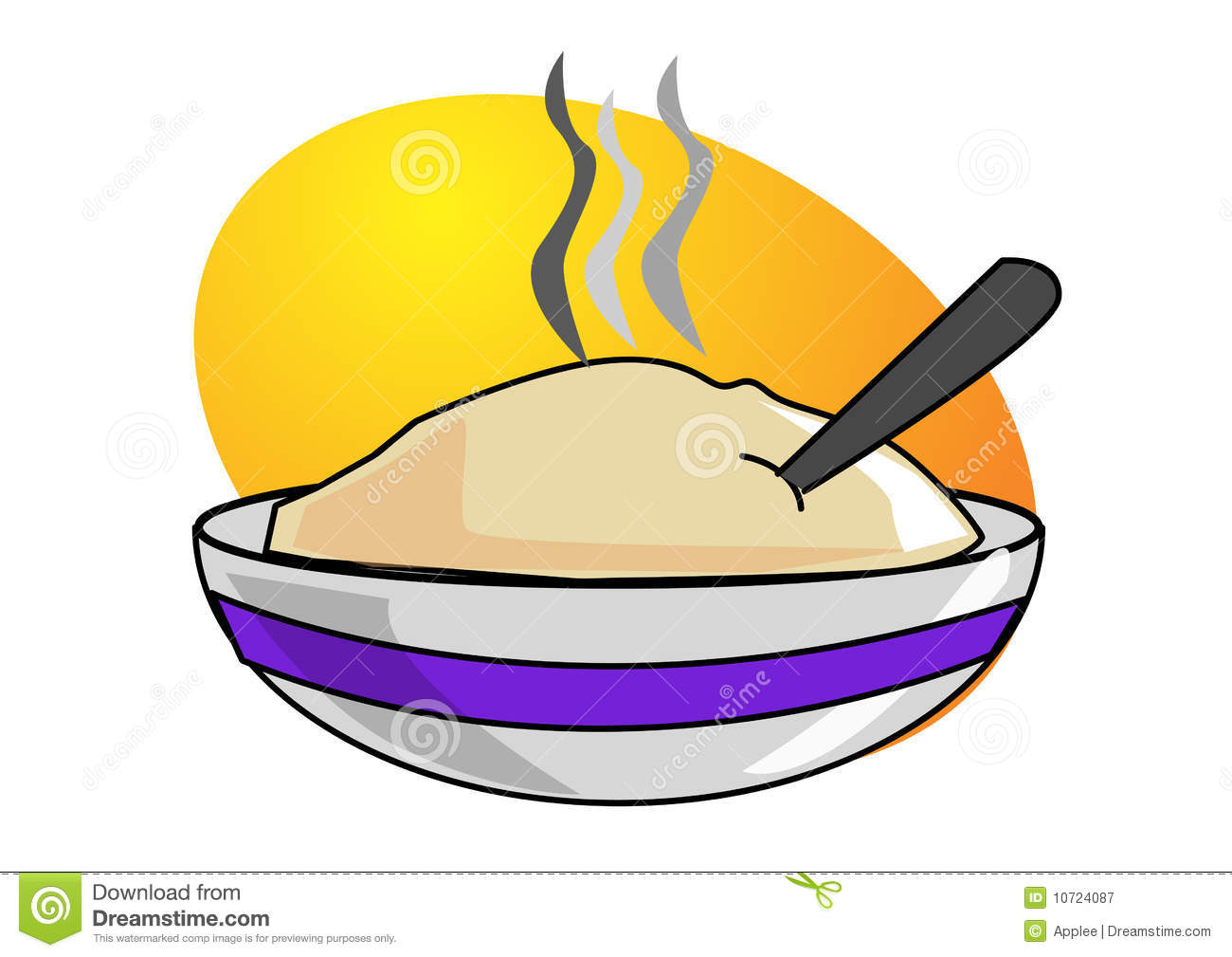 Oatmeal In Bowl Royalty Free Stock Photography   Image  10724087