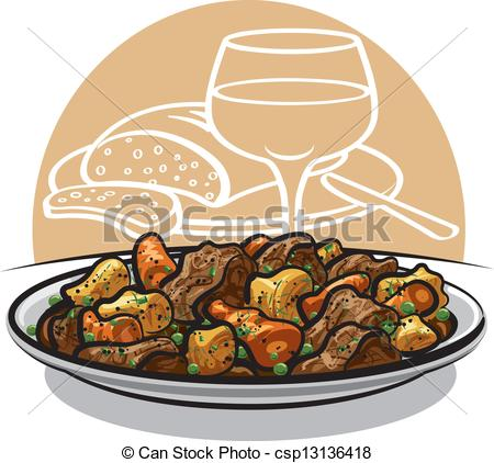 Of Beef Stew   Beef Stew With Vegetables Csp13136418   Search Clipart