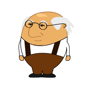 Old Man 2 Clipart Vector Clip Art Online Royalty Free Design