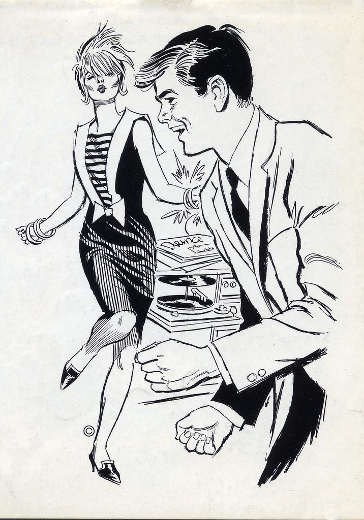 Retro 60s Clipart - Clipart Kid