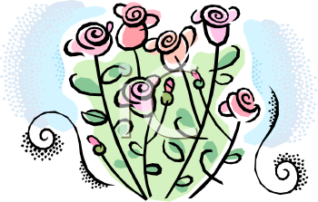 Rose Bush Clipart - Clipart Kid
